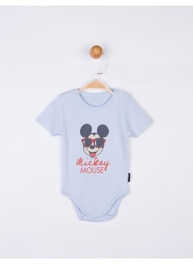 Mickey Mouse Mickey Kısa Kol Body 17198 Mavi
